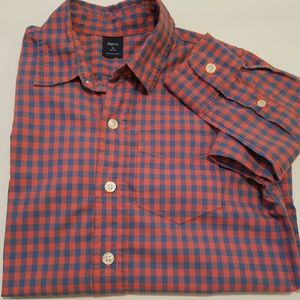 Boy Blue/peach shirt  S 6-7